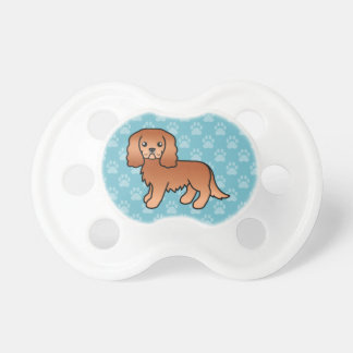 Ruby Cavalier King Charles Spaniel Dog Baby Pacifiers