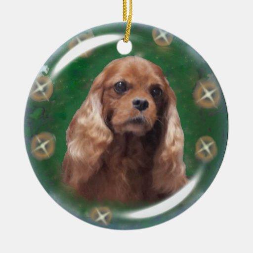 Ruby Cavalier King Charles Spaniel Ornament