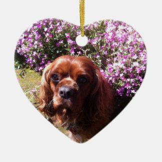 Ruby Cavalier Spaniel Christmas Ornament
