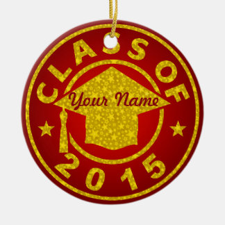 Ruby Class Of 2015 Graduation Christmas Tree Ornaments