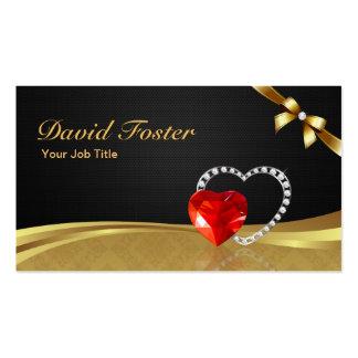 Ruby Diamond Gold Jeweler Jewelry Jewellery Pack Of Standard Business Cards