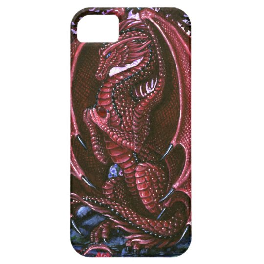 Ruby Dragon BarelyThere iPhone 5 Case