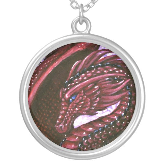 Ruby Dragon Necklace