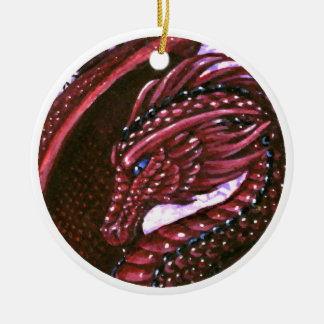 Ruby Dragon Ornament