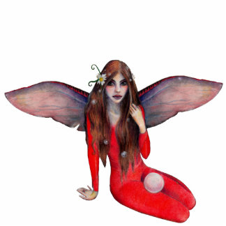 Ruby Faerie Standing Photo Sculpture