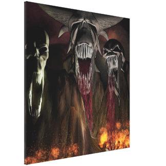 Ruby Falls Horror Art Stretched Canvas Prints