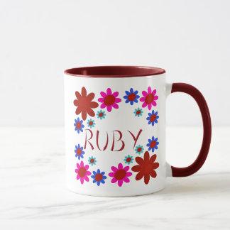 RUBY Flowers Mug