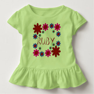 RUBY Flowers Toddler T-Shirt