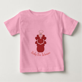Ruby for Women Red Angel Baby T-Shirt
