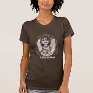 Ruby Fusion Belly Dance T-Shirt Tee