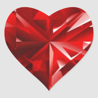 Ruby Heart Heart Sticker