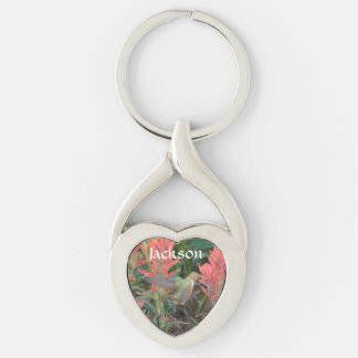 Ruby in Red Flowers Keychains