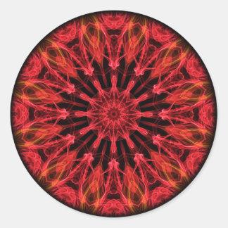 Ruby Love kaleidoscope Classic Round Sticker