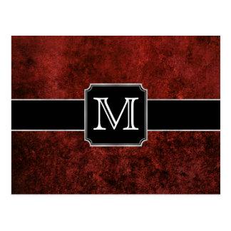 Ruby Modern Garnet Scarlet Crimson Red Velvet Postcard