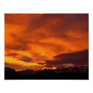 Ruby Mountain Sunset Posters