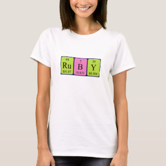 Ruby periodic table name shirt