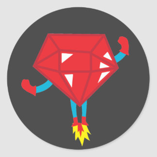 Ruby power classic round sticker