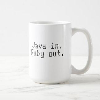 Ruby programmer's coffee mug