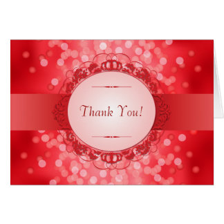 Ruby Red 40th Anniversary Thank You Cards