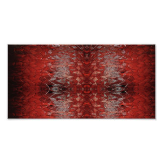 """Ruby Red"" Abstract Art Photo Print"