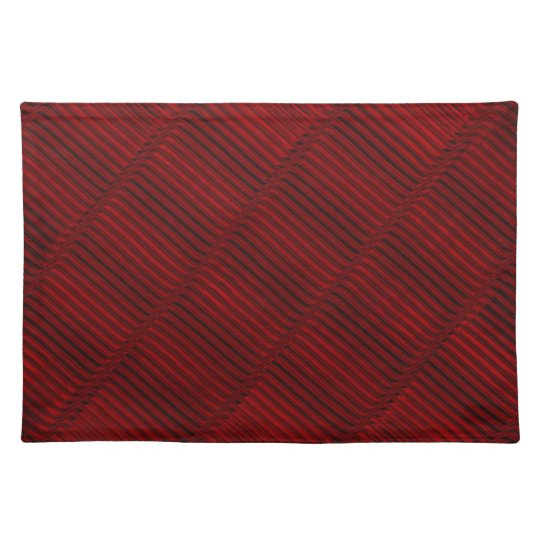 Ruby Red and Black Pattern Placemats