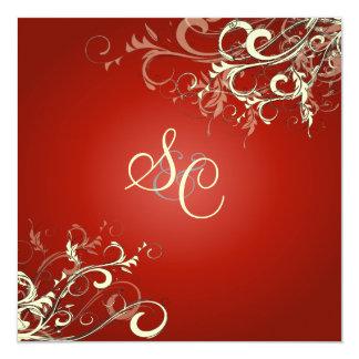 RUBY RED + CREAM SWIRLS CARD