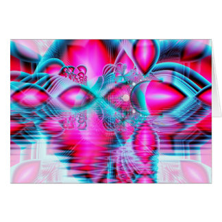 Ruby Red Crystal Palace, Abstract Jewels Card