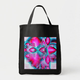 Ruby Red Crystal Palace, Abstract Jewels Grocery Tote Bag