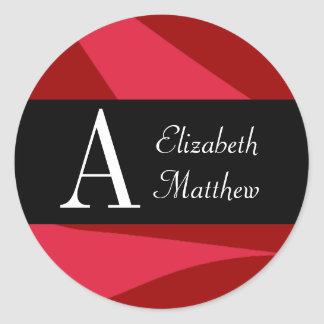 Ruby Red Customize Last and First Name Sticker