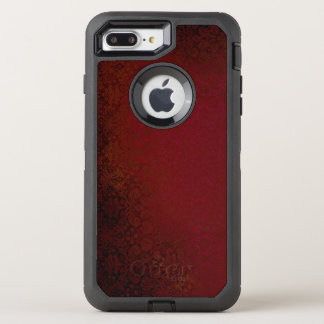 Ruby Red Damask OtterBox Defender iPhone 8 Plus/7 Plus Case