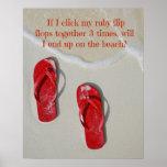 Ruby Red Flip Flops Poster