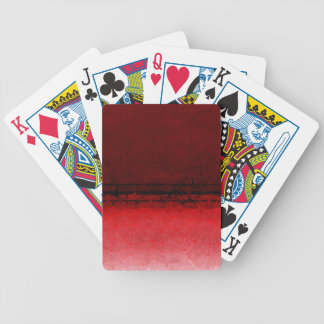 Ruby Red Geometrical Ombre Pattern Bicycle Playing Cards