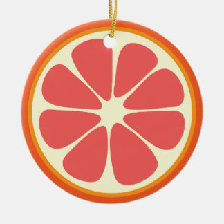 Ruby Red Grapefruit Juicy Sweet Citrus Fruit Slice Christmas Ornament
