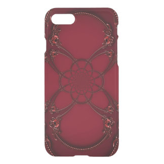 Ruby Red Infinity Symbol Jewels Optical Illusion iPhone 7 Case