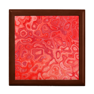 Ruby Red Marble Molten Lava Pattern Gift Box
