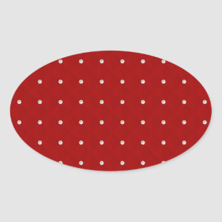 Ruby Red Pearl Stud Quilted Stickers