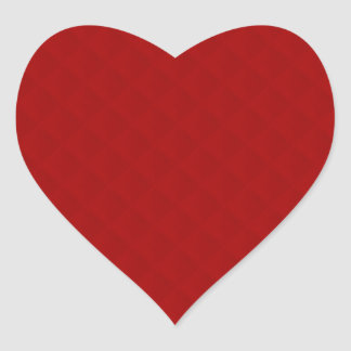 Ruby Red Quilted Leather Heart Sticker