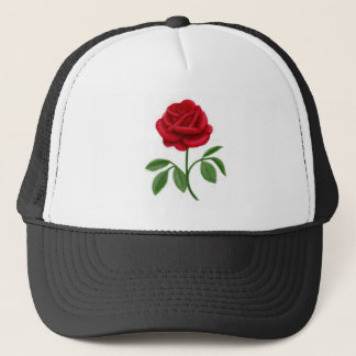 Ruby Red Rose Trucker Hat