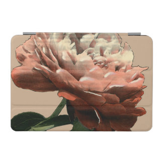 Ruby Red Rose with White Accents iPad Mini Cover