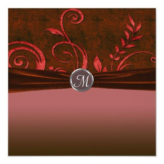 Ruby & Red Velvet Wedding Swirl Card