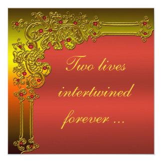 Ruby Red Wedding Invitation