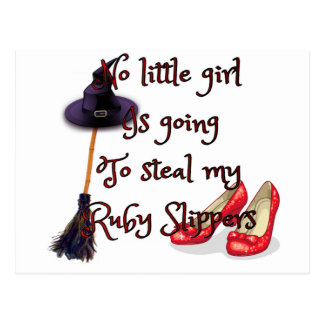 Ruby slippers are mine postcard