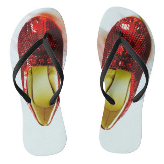 Ruby Slippers Red Shoes Flip Flops! Flip Flops