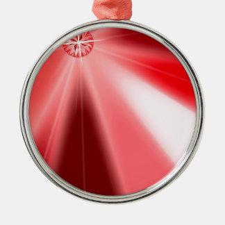Ruby Starburst Christmas Ornament