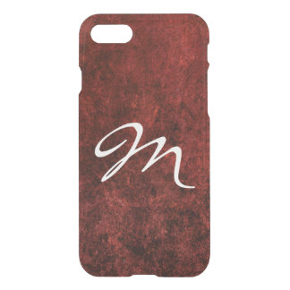 Ruby Tech | Monogram Garnet Crimson Red Velvet iPhone 8/7 Case