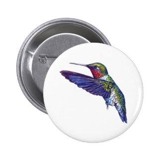 Ruby Throated Hummingbird 6 Cm Round Badge
