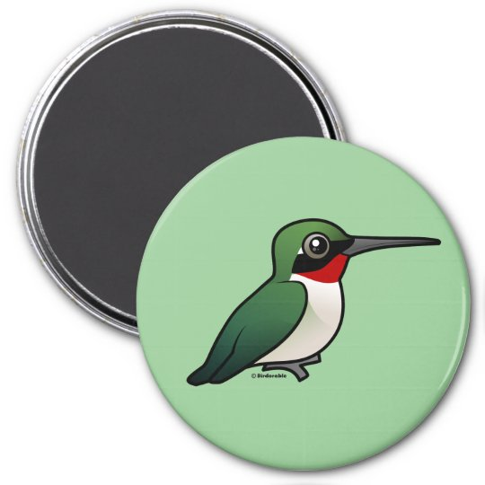Ruby-throated Hummingbird 7.5 Cm Round Magnet