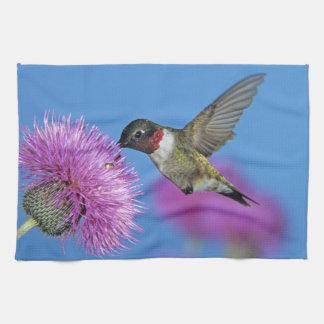 Ruby-throated Hummingbird, Archilochus 4 Tea Towel