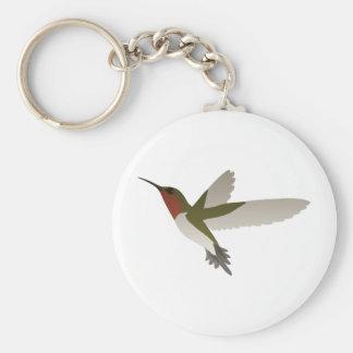Ruby Throated Hummingbird Basic Round Button Key Ring