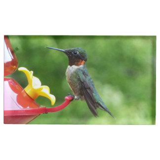 Ruby-Throated Hummingbird Bird Photography Table Card Holder
